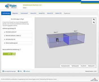 berechnung der schalld mmung mit dem rigips schallschutz rechner. Black Bedroom Furniture Sets. Home Design Ideas