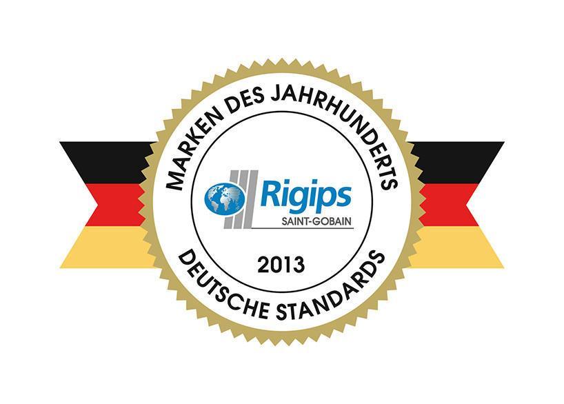 Rigips Marke des Jahrhunderts 2013
