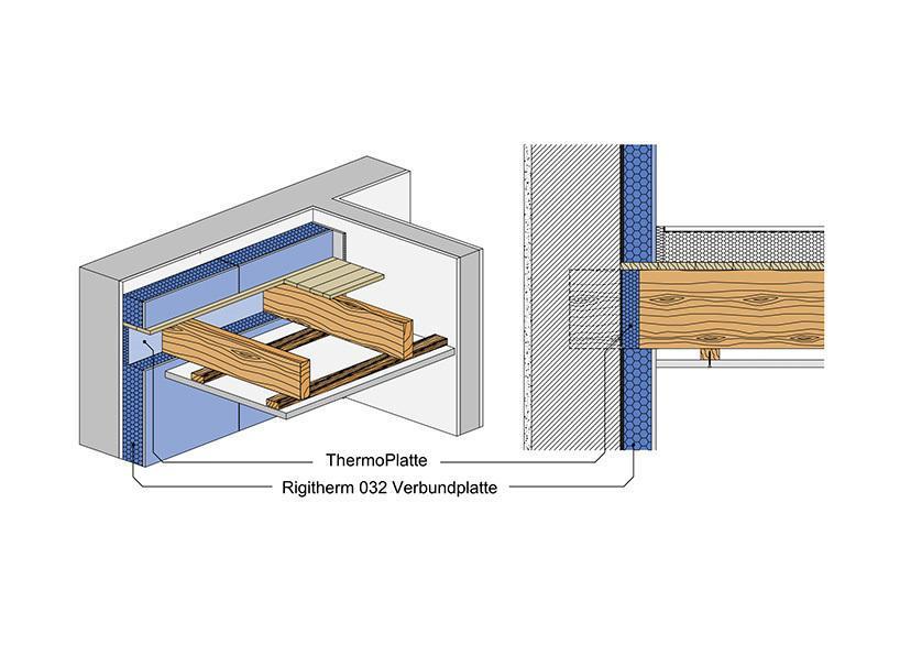 Rigitherm Holzbalkendecke
