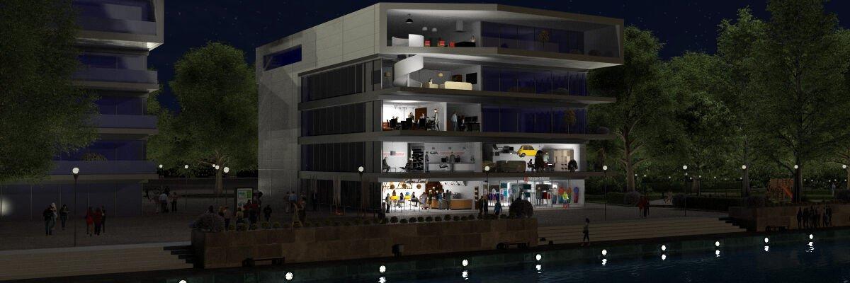 Multikomforthaus Frühling Nacht