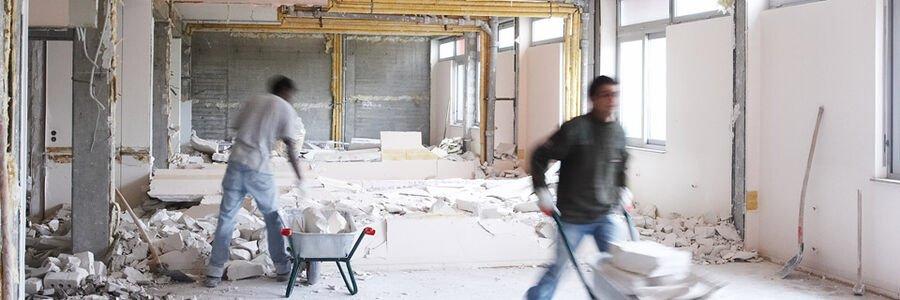 Baustellenbedingungen für Arbeiten mit Gipsplattensystemen
