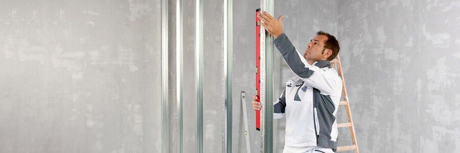 Trennwand, Vorsatzschale, Trockenputz, geschwungene Wand oder Spezialwand
