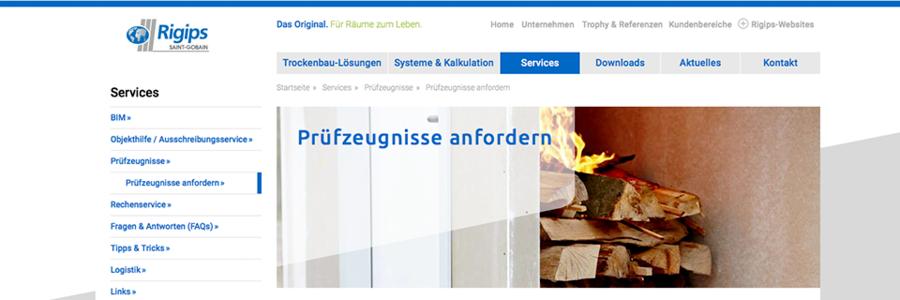 Beliebt Rigips Prüfzeugnisse - online und direkt CF01
